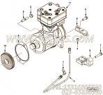 【空气压缩机】康明斯CUMMINS柴油机的5256645 空气压缩机