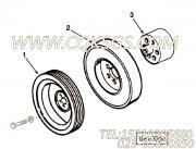 3326141曲轴隔套,用于康明斯NTA855-C360发动机硅油减振器组,更多【宣化推土机】配件报价