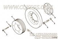 MP45144减振器和皮带轮安装,用于康明斯KTA19-M500发动机硅油减振器组,更多【船舶用】配件报价