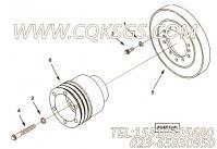 217322硅油减振器,用于康明斯KTA19-M640柴油发动机硅油减振器组,更多【船用】配件报价