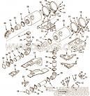 【空气净化器支架】康明斯CUMMINS柴油机的3638072 空气净化器支架