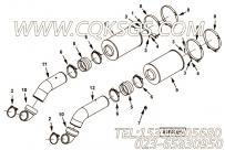 【空气输送管】康明斯CUMMINS柴油机的4964591 空气输送管