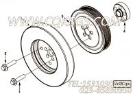 【柴油机6LTAA8.9-C360的扭振减振器组】 康明斯曲轴皮带轮报价,参数及图片