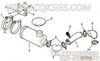 【进气口管】康明斯CUMMINS柴油机的C0140180100 进气口管