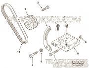【Belt, V】康明斯CUMMINS柴油机的3040315 Belt, V